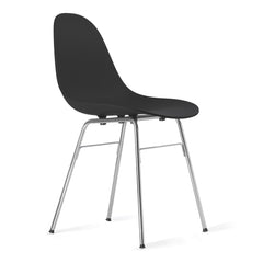 TA Side Chair with Chrome Plated Er Base & Black Seat