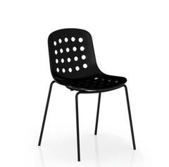 Holi Open Shell Side Chair - Black