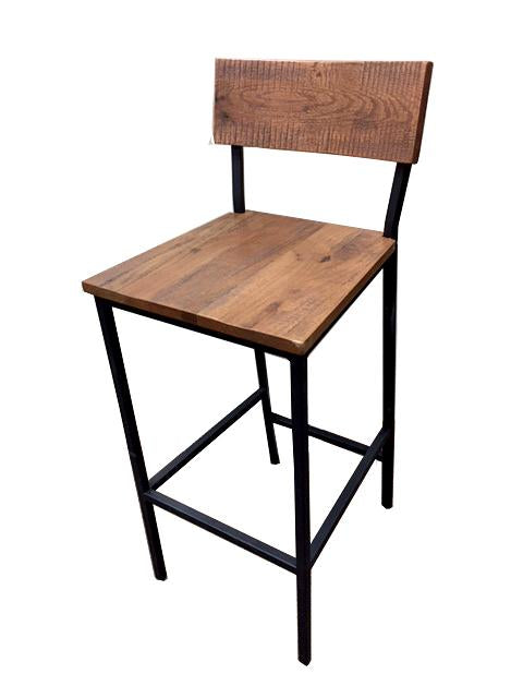 Timber Series Metal and Wood Bar Stool