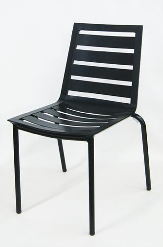 Outdoor Black Aluminum Side Chair
