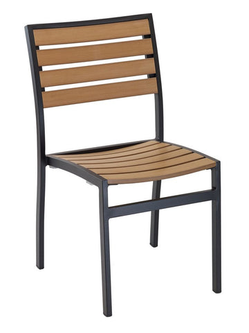 FS Aluminum Frame Chair With Faux Teak Back