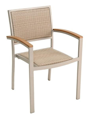 FS Aluminum Frame Armchair With PE Weave Back