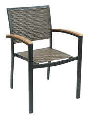 FS Aluminum Frame Armchair With Textile Back