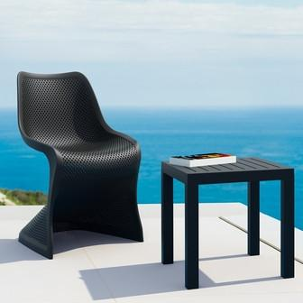 Compamia Bloom Dining Chair Black ISP048-BLA - RestaurantFurniturePlus + Chairs, Tables and Outdoor - 5