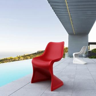 Compamia Bloom Dining Chair Red ISP048-RED - RestaurantFurniturePlus + Chairs, Tables and Outdoor - 5