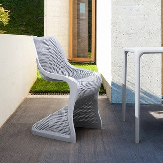Compamia Bloom Dining Chair Silver Gray ISP048-SIL - RestaurantFurniturePlus + Chairs, Tables and Outdoor - 5