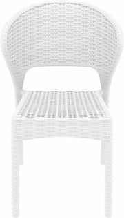 Compamia Daytona Wickerlook Square Dining Set 5 Piece White with Side Chairs ISP8181S-WH - YourBarStoolStore + Chairs, Tables and Outdoor  - 1
