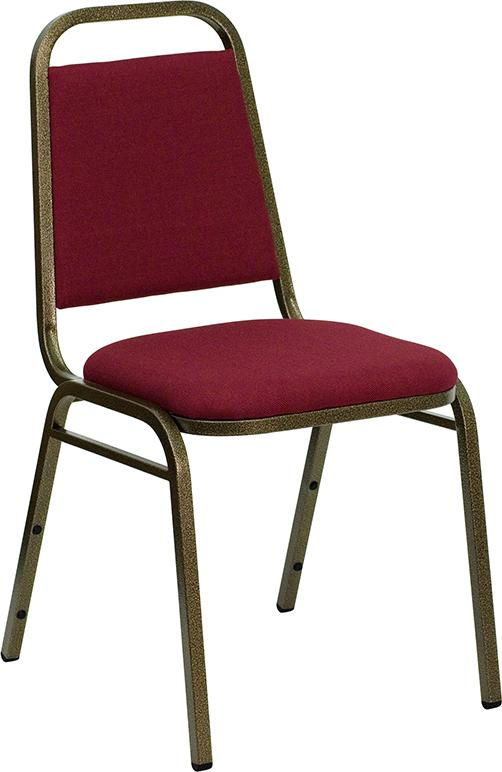 HERCULES Series Trapezoidal Back Stacking Banquet Chair - Copper Vein Frame