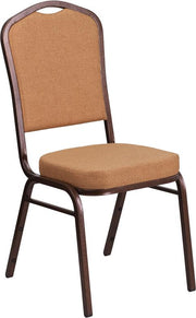 HERCULES Series Crown Back Stacking Banquet Chair - Copper Vein Frame