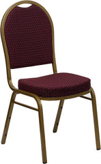 HERCULES Series Dome Back Stacking Banquet Chair - Gold Frame