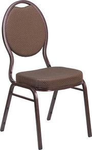 HERCULES Series Teardrop Back Stacking Banquet Chair - Copper Vein Frame