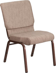 HERCULES Series 18.5''W Stacking Church Chair - Copper Vein Frame