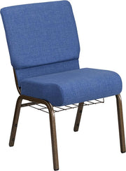 HERCULES Series 21''W Church Chair with Cup Book Rack - Gold Vein Frame