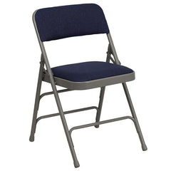 2 Pk. HERCULES Series Curved Triple Braced & Double Hinged Metal Folding Chair