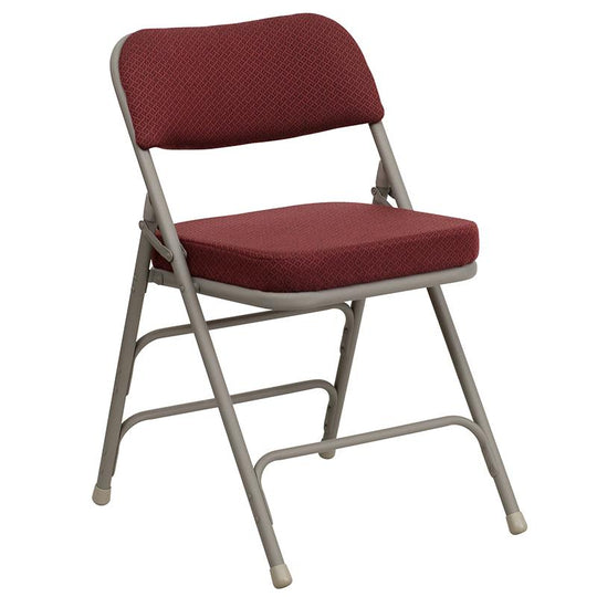 2 Pk. HERCULES Series Premium Curved Triple Braced & Double Hinged Metal Folding Chair