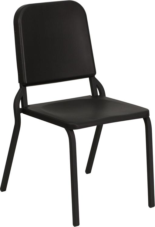 HERCULES Series Black High Density Stackable Melody Band-Music Chair