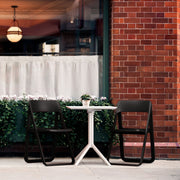 Dream Folding Outdoor Bistro Set with White Table and 2 Chairs