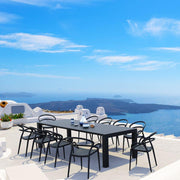 Mila Extendable Outdoor Dining Set 11 piece