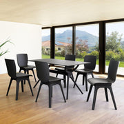 Mio PP Modern 7 Piece Dining Set with 55 inch Air Table