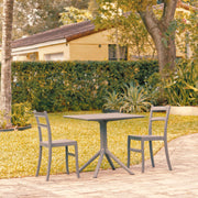 Tiffany Patio Dining Set with 2 Chairs Dark Gray