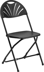 2 Pk. HERCULES Series 650 lb. Capacity Plastic Fan Back Folding Chair
