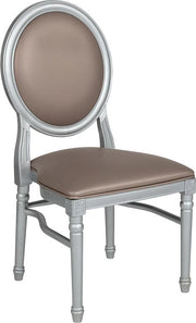 HERCULES Series 900 lb. Capacity King Louis Chair with Vinyl Back and Seat
