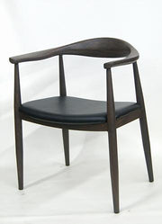 Mid-Century Modern Wood Grain Metal Frame Chair