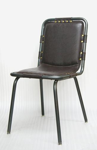 Metal Chair with Vinyl Seat