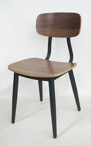 Black Walnut Wood and Metal Chair
