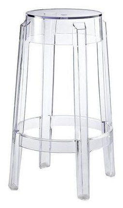 Compamia Fox Polycarbonate Bar Stool Clear Transparent ISP037-TCL - RestaurantFurniturePlus + Chairs, Tables and Outdoor