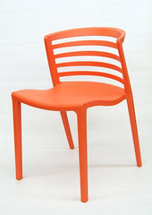 Outdoor Plastic Stackable Side Chair