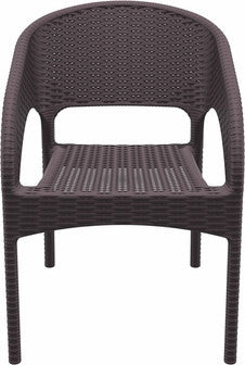 Compamia Panama Resin Wickerlook Dining Arm Chair Brown ISP808-BR - RestaurantFurniturePlus + Chairs, Tables and Outdoor - 5