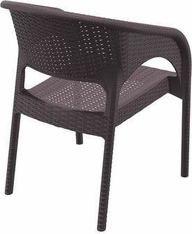 Compamia Panama Resin Wickerlook Dining Arm Chair Brown ISP808-BR - RestaurantFurniturePlus + Chairs, Tables and Outdoor - 4