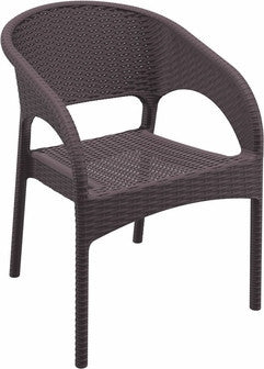 Compamia Panama Resin Wickerlook Dining Arm Chair Brown ISP808-BR - RestaurantFurniturePlus + Chairs, Tables and Outdoor - 1