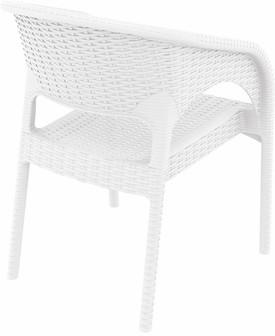 Compamia Panama Resin Wickerlook Dining Arm Chair White ISP808-WH - RestaurantFurniturePlus + Chairs, Tables and Outdoor - 5