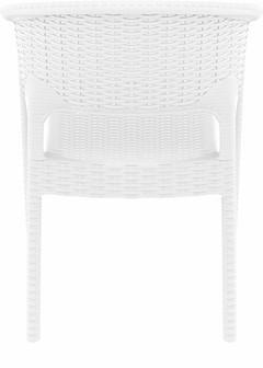 Compamia Panama Resin Wickerlook Dining Arm Chair White ISP808-WH - RestaurantFurniturePlus + Chairs, Tables and Outdoor - 3