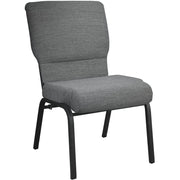 Advantage 20.5 Inch Width Church Chair - Textured Black Frame