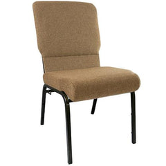 Advantage 18.5 Inch Navy Church Chairs - Gold Vein Frame