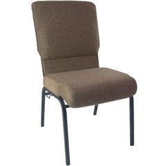 Advantage 18.5 Inch Navy Church Chairs - Textured Black Frame