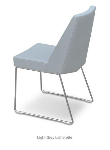 Prisma Wire Chair with Sled Base