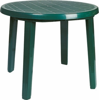 Compamia Ronda Resin Round Dining Table 35.5 inch Green ISP125-GRE - RestaurantFurniturePlus + Chairs, Tables and Outdoor