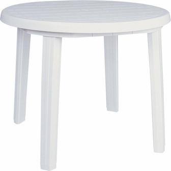 Compamia Ronda Resin Round Dining Table 35.5 inch White ISP125-WHI - RestaurantFurniturePlus + Chairs, Tables and Outdoor