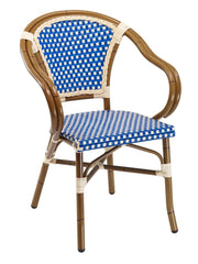 FS Hand Painted Aluminum Frame Armchair With PE Weave Back and Seat