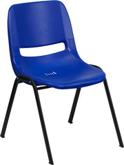 "HERCULES Series 440 lb. Capacity Kid's Ergonomic Shell Stack Chair with Black Frame and 14"" Seat Height"