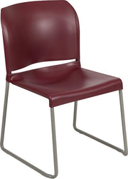 HERCULES Series 880 lb. Capacity Full Back Contoured Stack Chair with Gray Powder Coated Sled Base