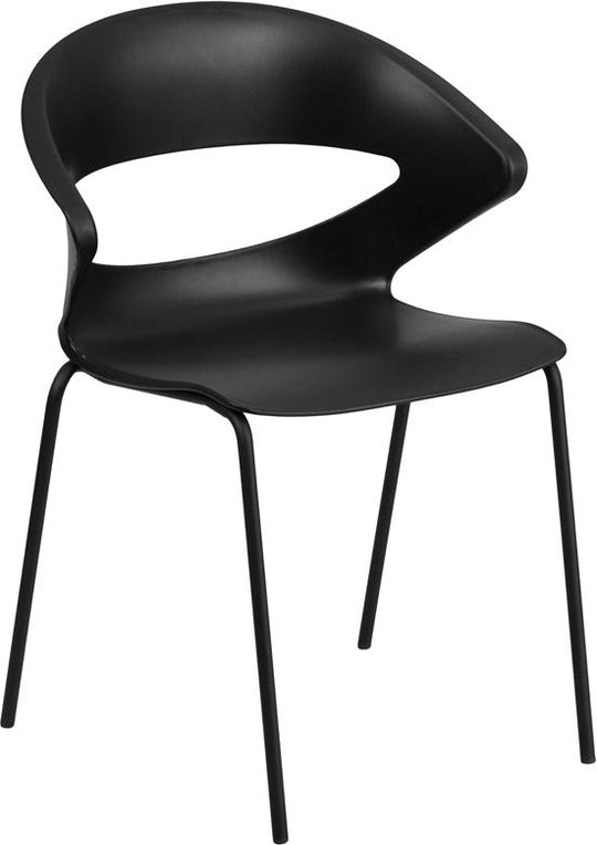 HERCULES Series 440 lb. Capacity Black Stack Chair