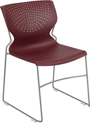 HERCULES Series 661 lb. Capacity Full Back Stack Chair with Gray Powder Coated Frame