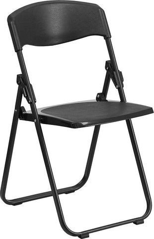 2 Pk. HERCULES Series 500 lb. Capacity Heavy Duty Plastic Folding Chair with Built-in Ganging Brackets
