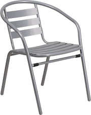 Metal Restaurant Stack Chair With Slats
