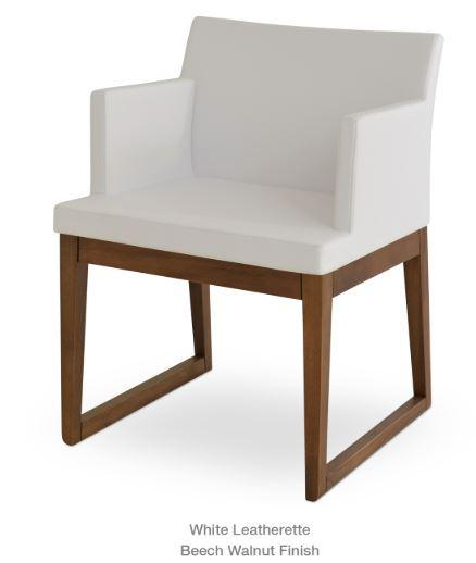 Soho Concept Soho Armchair with Wood Sled Base - YourBarStoolStore + Chairs, Tables and Outdoor - 1